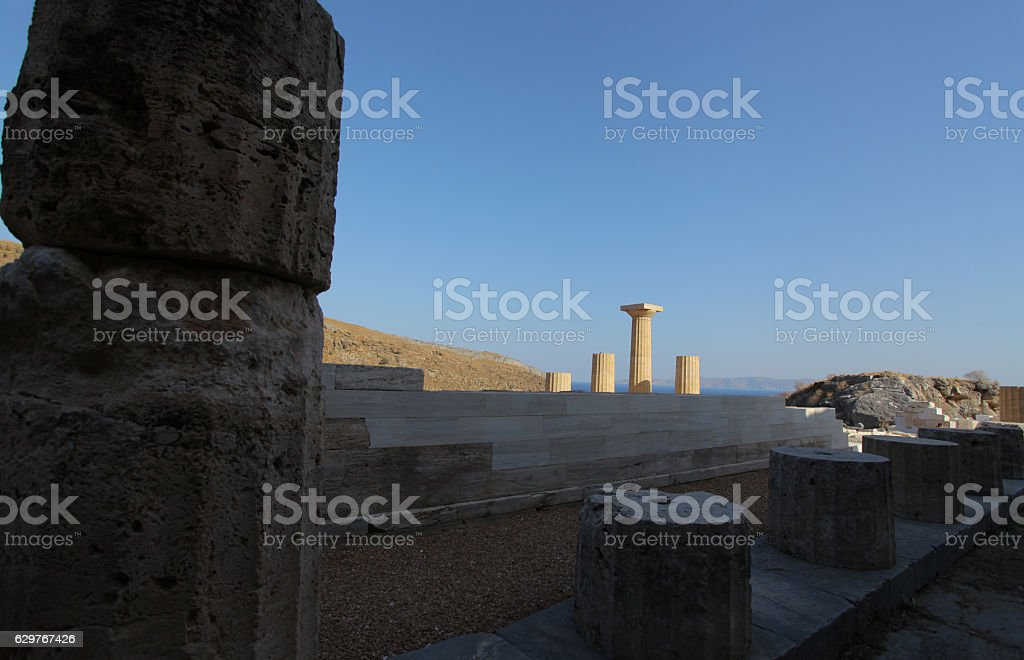 Karthea, Kea, Cyclades stock photo