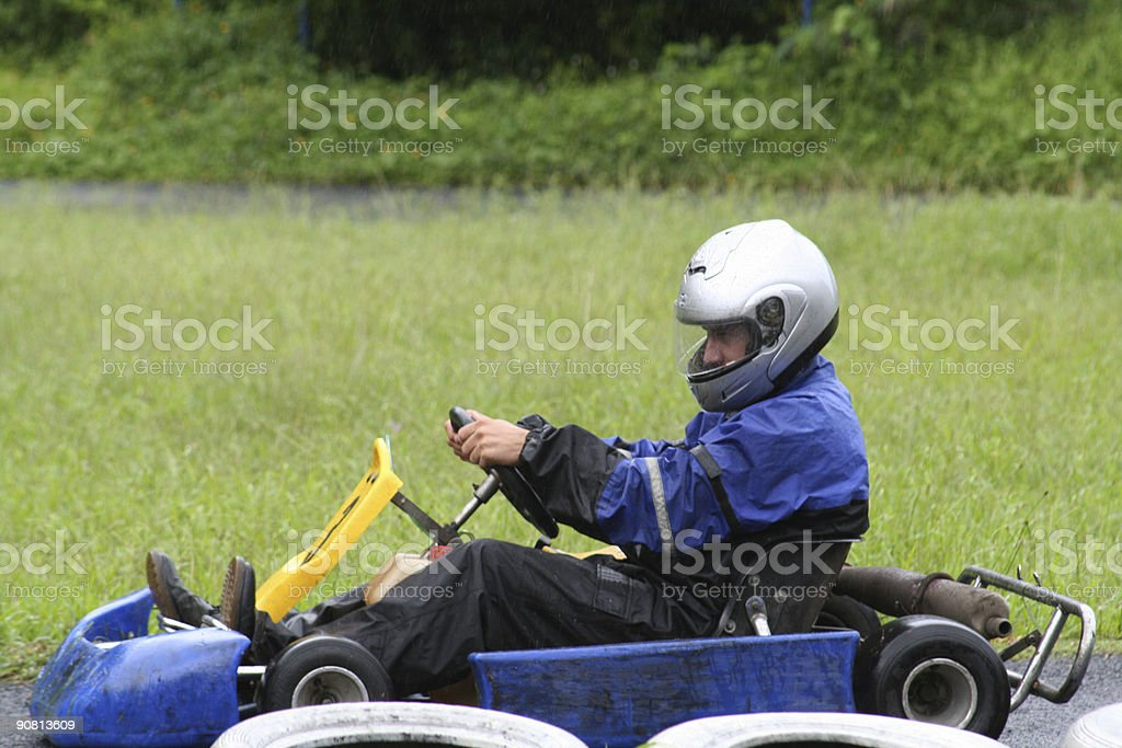 Karting in the rain 4 royalty-free stock photo
