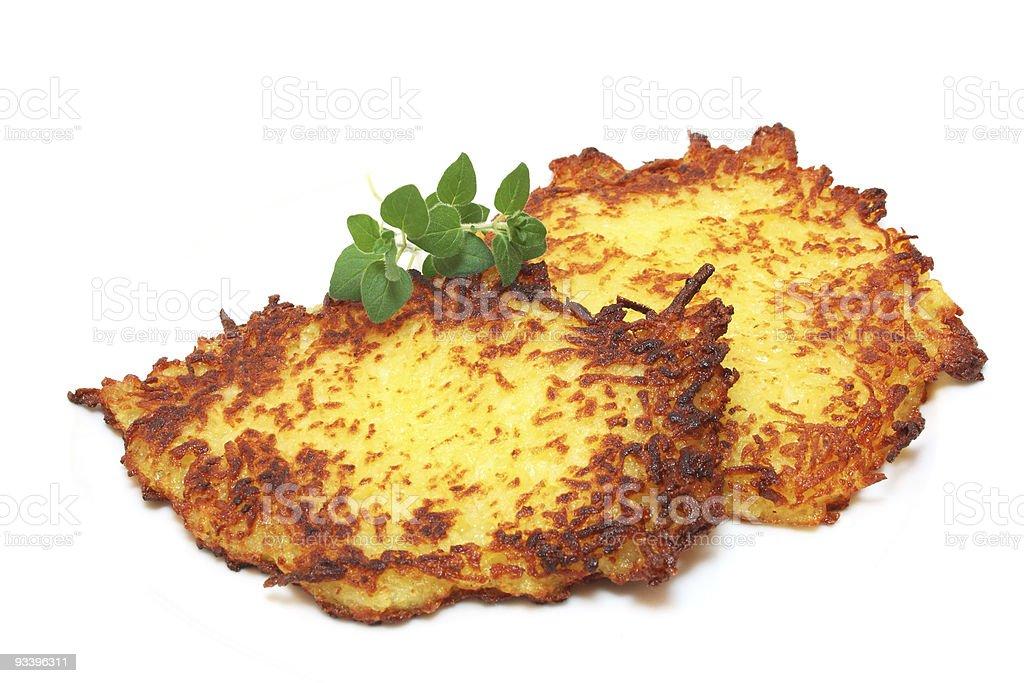 Kartoffelpuffer / Reibekuchen stock photo