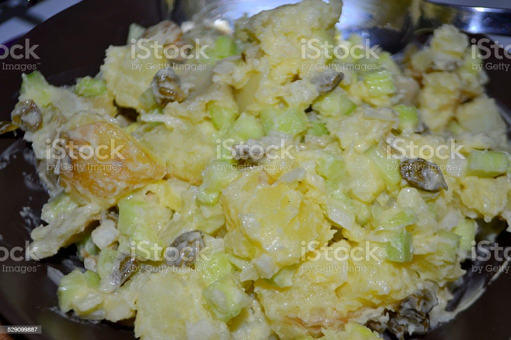 Kartoffelsalat - Insalata di patate - Potato salad stock photo