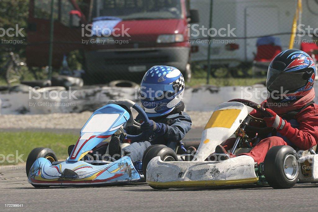 Kart-race royalty-free stock photo
