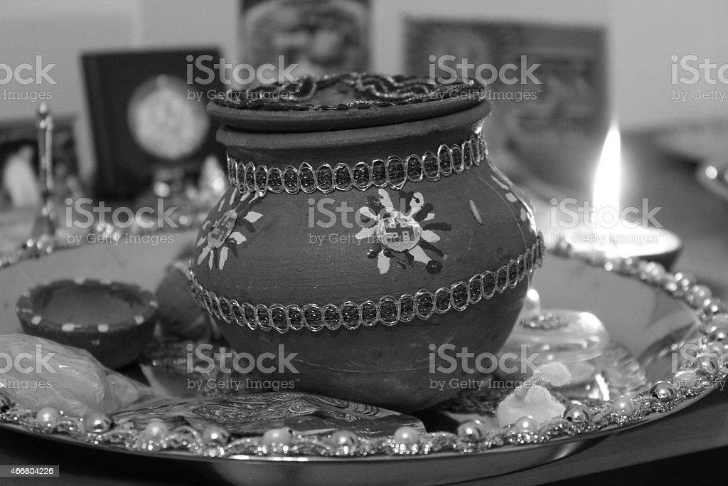 karva for karvachauth royalty-free stock photo