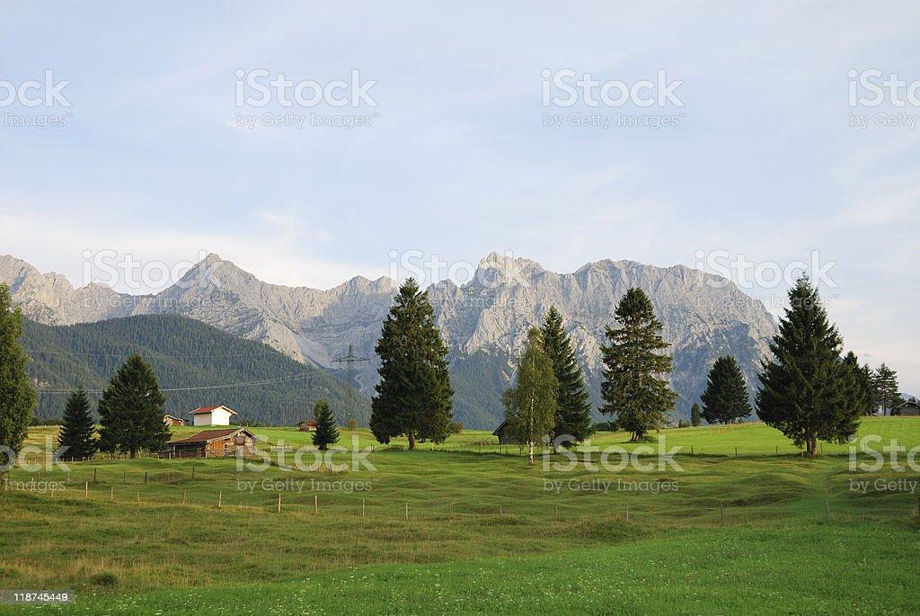 Karwendel landscape stock photo