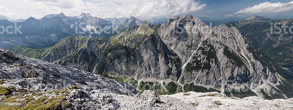 Karwendel Panorama royalty-free stock photo