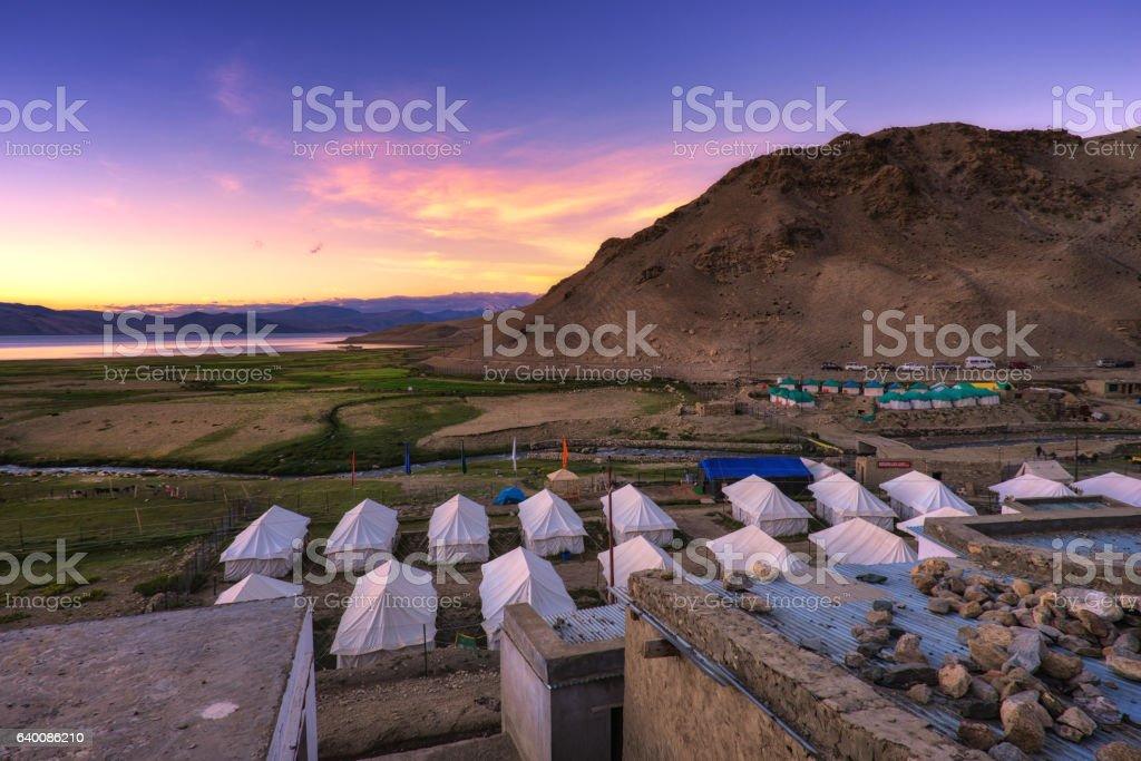 Karzok village stock photo