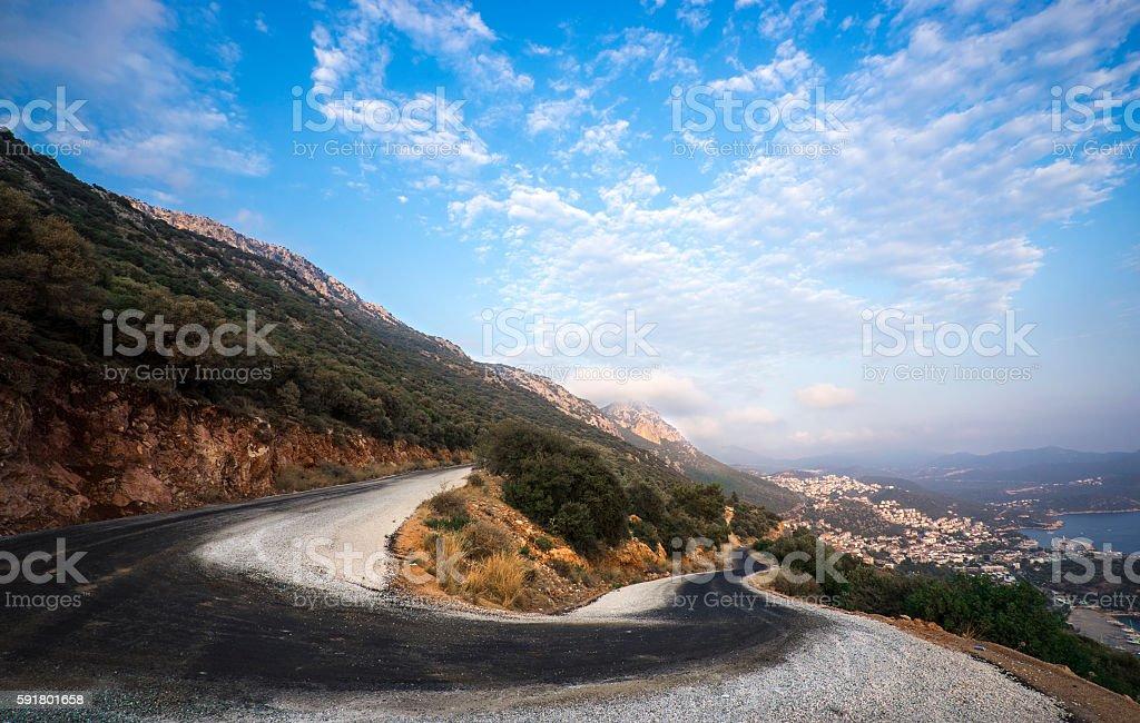Kas Landscape, Turkey stock photo