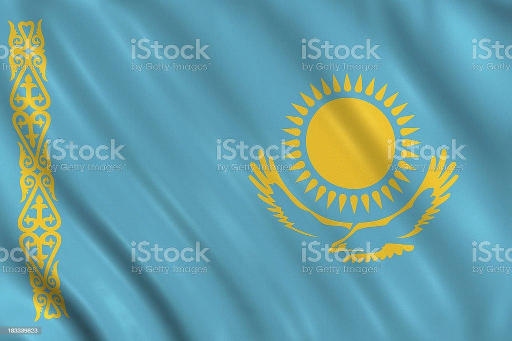 kasakhstan flag royalty-free stock photo