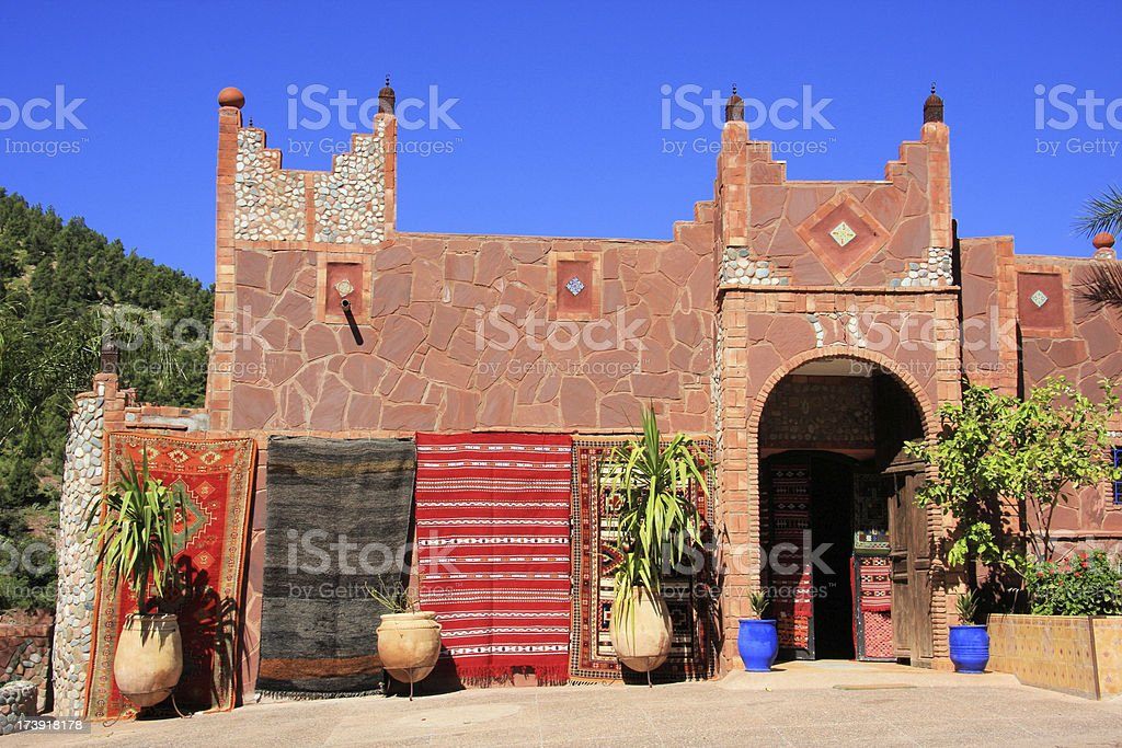 kasba entrance stock photo