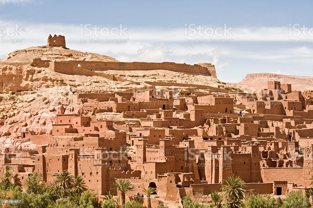 Casbah, Ait Ben haddou stock photo