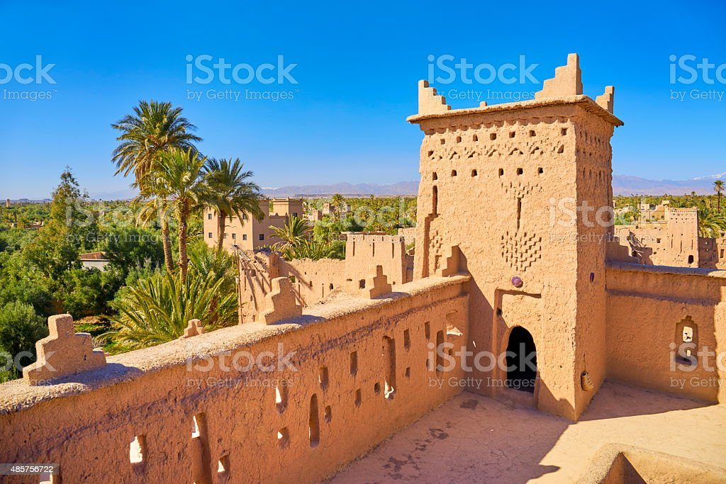 Kasbah Amahidil in Skoura Oasis, Ouarzazate district, Morocco stock photo
