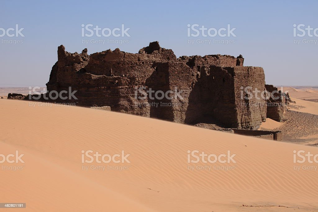 Kasbah in der Sahara Algeriens royalty-free stock photo