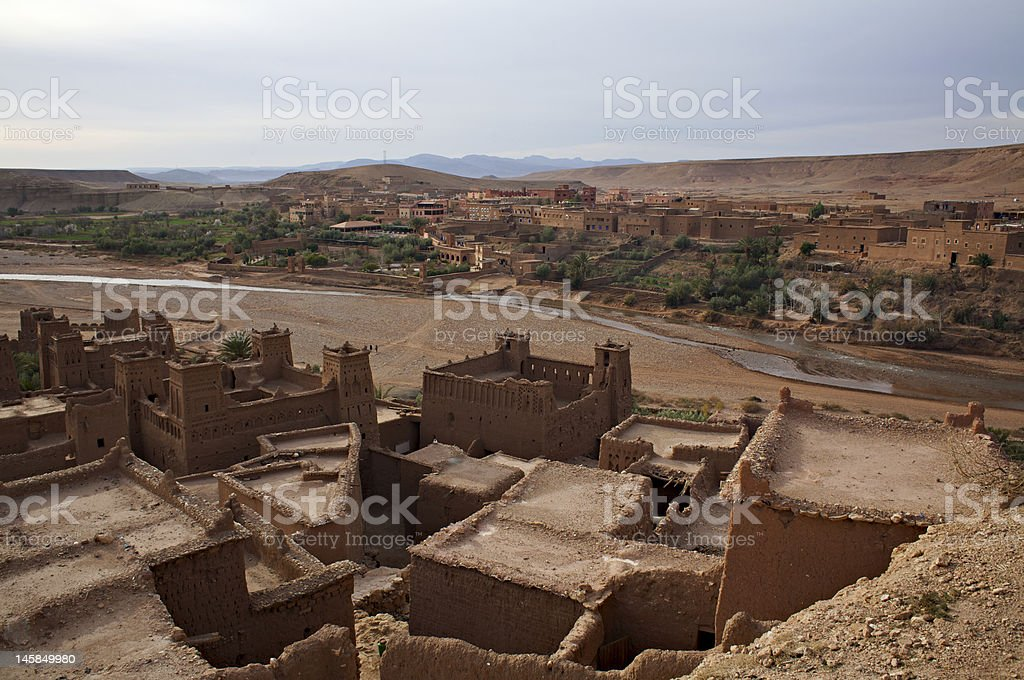Kasbah in Morocco stock photo