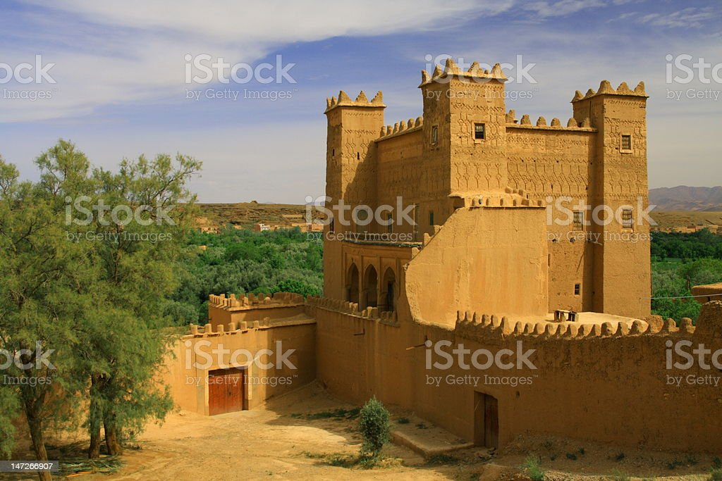 Kasbah in the Dades Valley, Morocco royalty-free stock photo