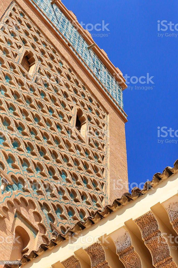 Kasbah Minaret, Marrakech, Morocco royalty-free stock photo