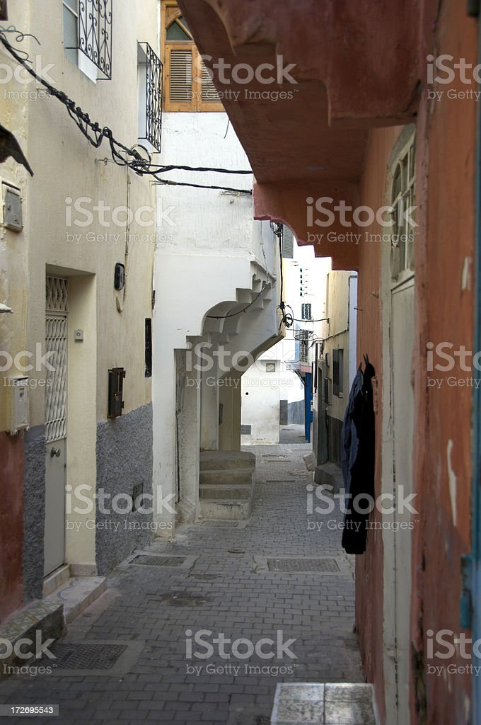 Kasbah Residential Alley royalty-free stock photo