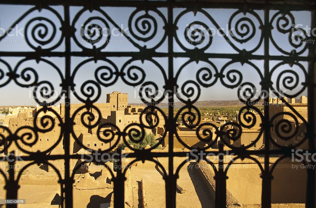 Kasbah Taourirt in Ouarzazate, Morocco stock photo
