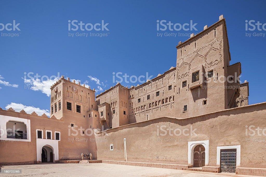 Kasbah Taourirt Ouarzazate, Morocco royalty-free stock photo
