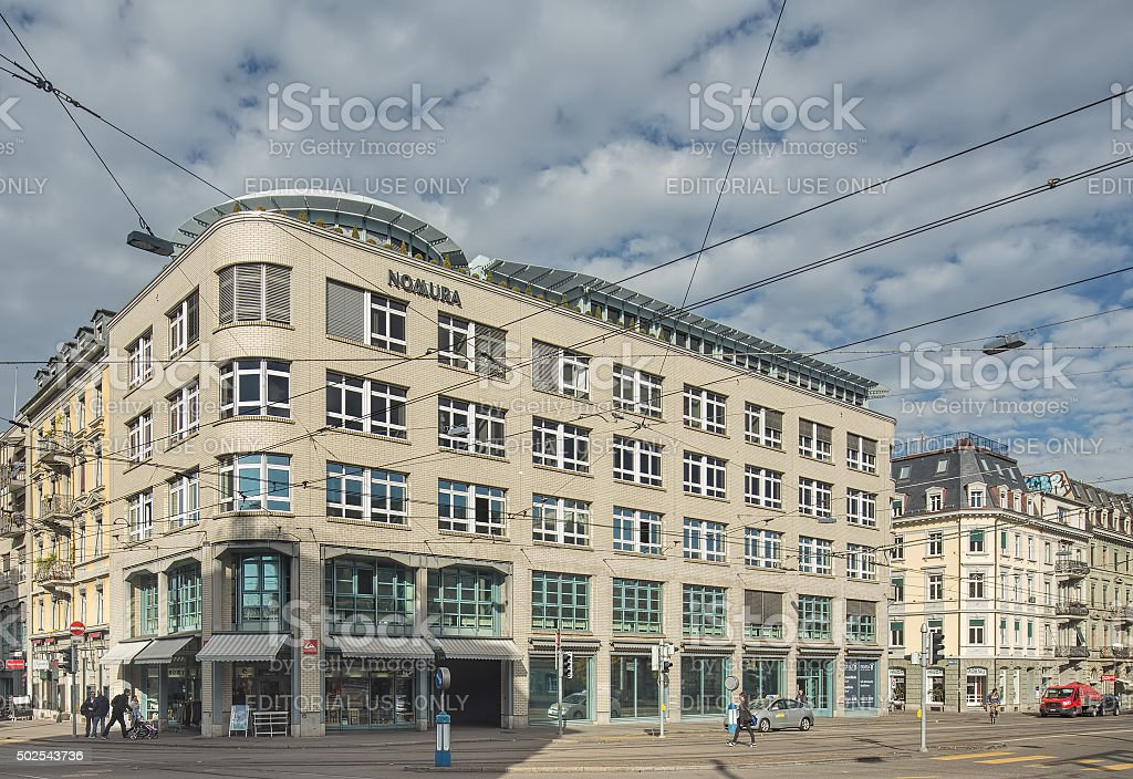 Kasernenstrasse street in Zurich stock photo