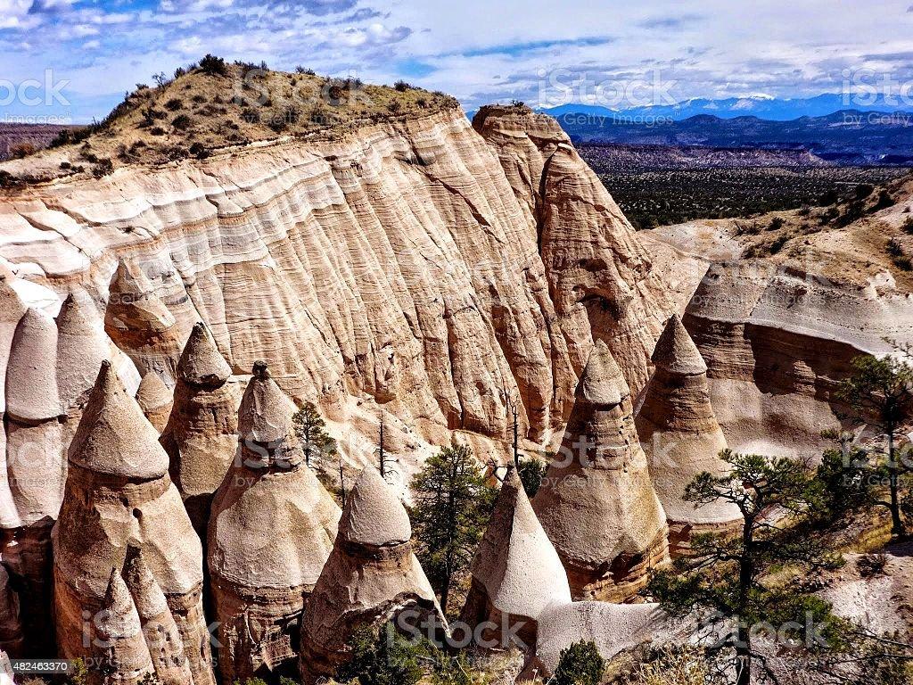 Kasha-Katuwe Tent Rocks National Monument stock photo