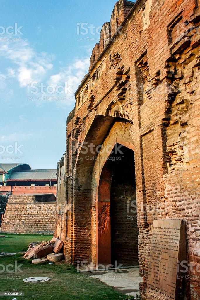 Kashmere Gate or Kashmiri Gate, a gate of Old Delhi stock photo