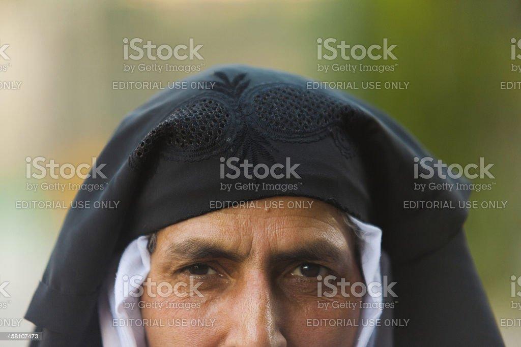 Kashmiri Muslim Woman Exposed Unveiled Burqa royalty-free stock photo