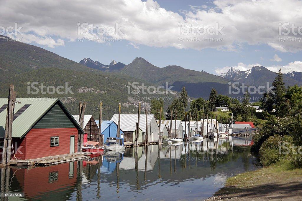 Kaslo British Columbia Marine Scenic stock photo