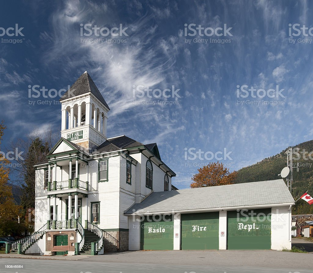 Kaslo Municipality Hall royalty-free stock photo