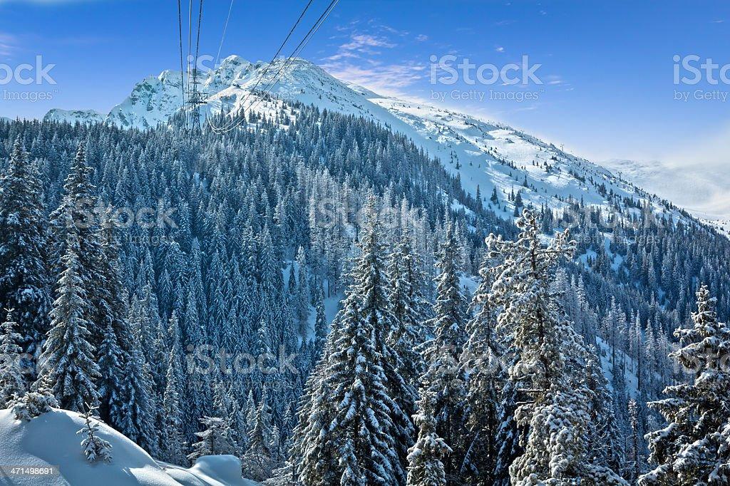 Kasprowy Wierch in winter, Tatras royalty-free stock photo