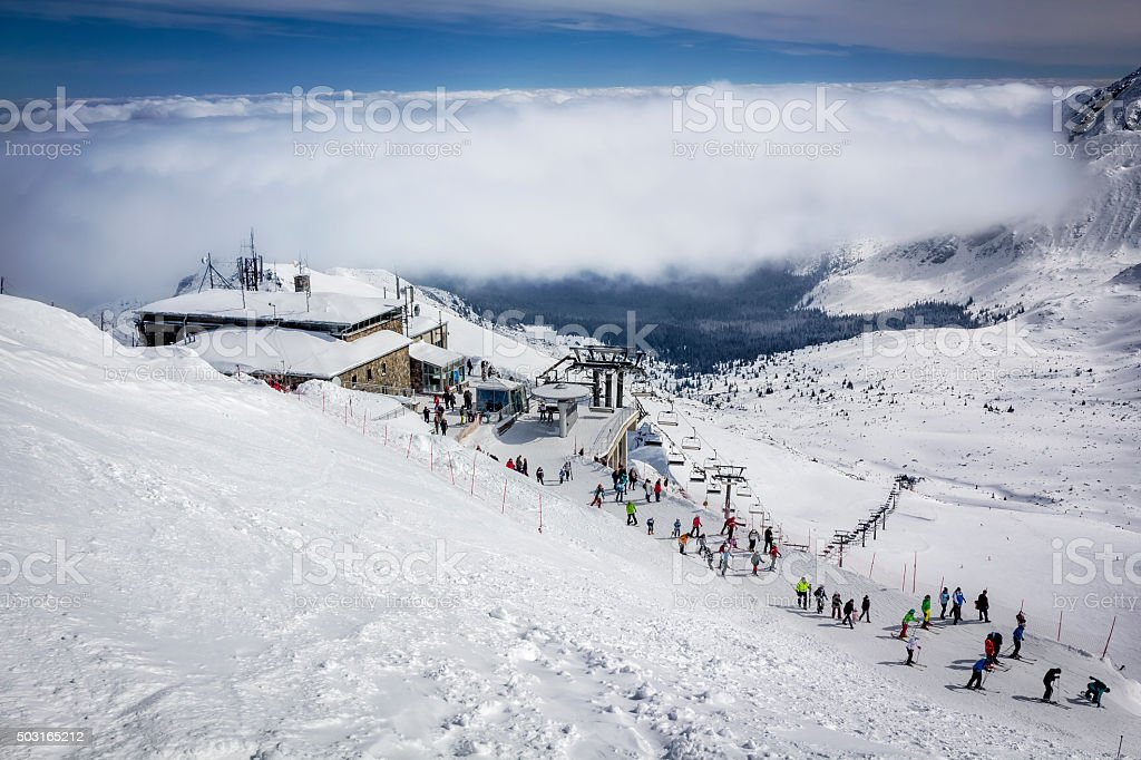Kasprowy Wierch in winter, Tatras stock photo