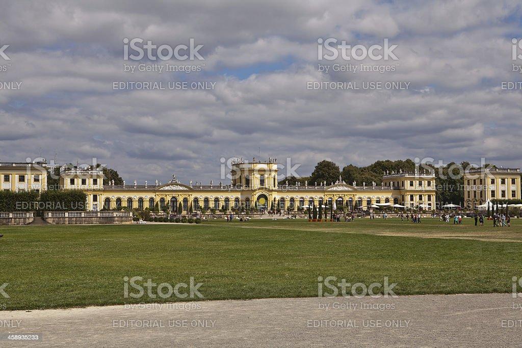 Kassel Orangerie under clouded sky stock photo