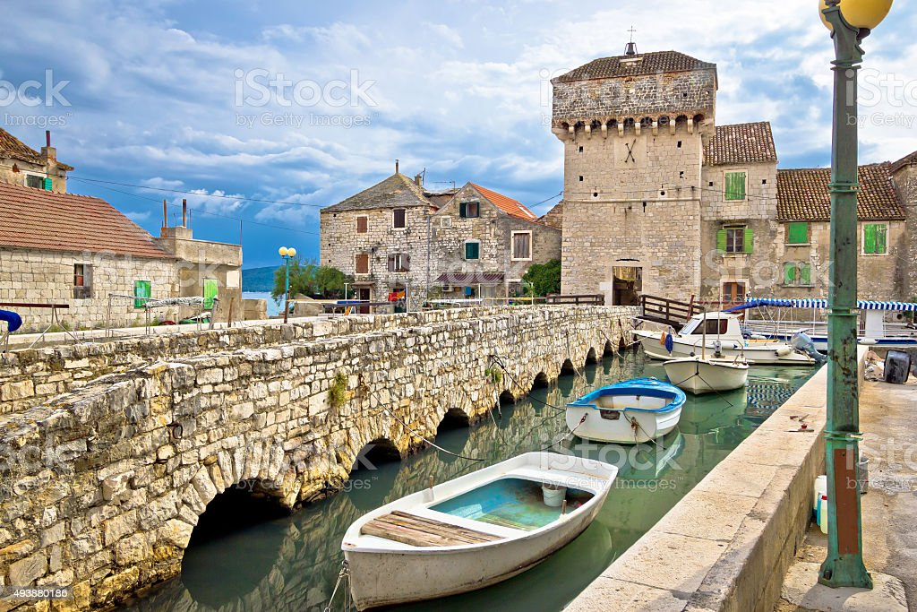 Kastel Gomilica historic island near Split stock photo