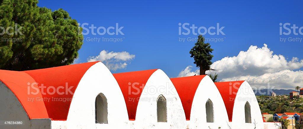 Kastellorizo orthodox chapel stock photo