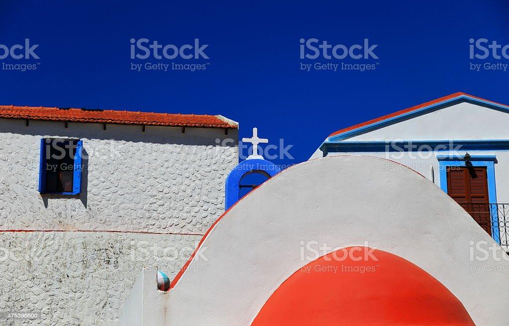 Kastellorizo orthodox church-Greece stock photo