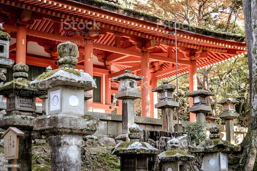 Kasuga Grand Shrine in Nara, Japan stock photo