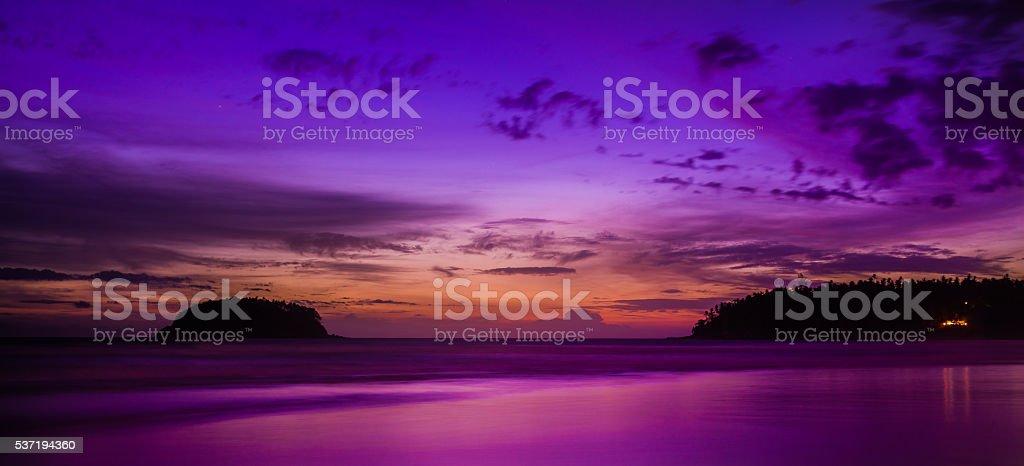Kata Beach at the Dawn stock photo