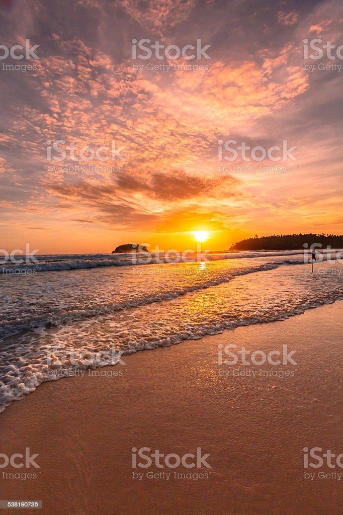 Kata Beach before dark stock photo