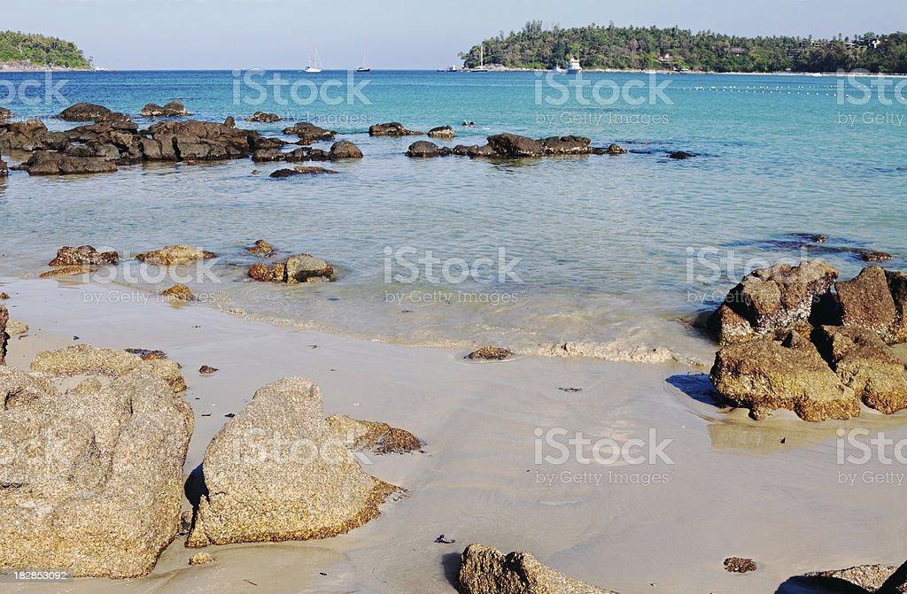 Kata Beach in Phuket stock photo