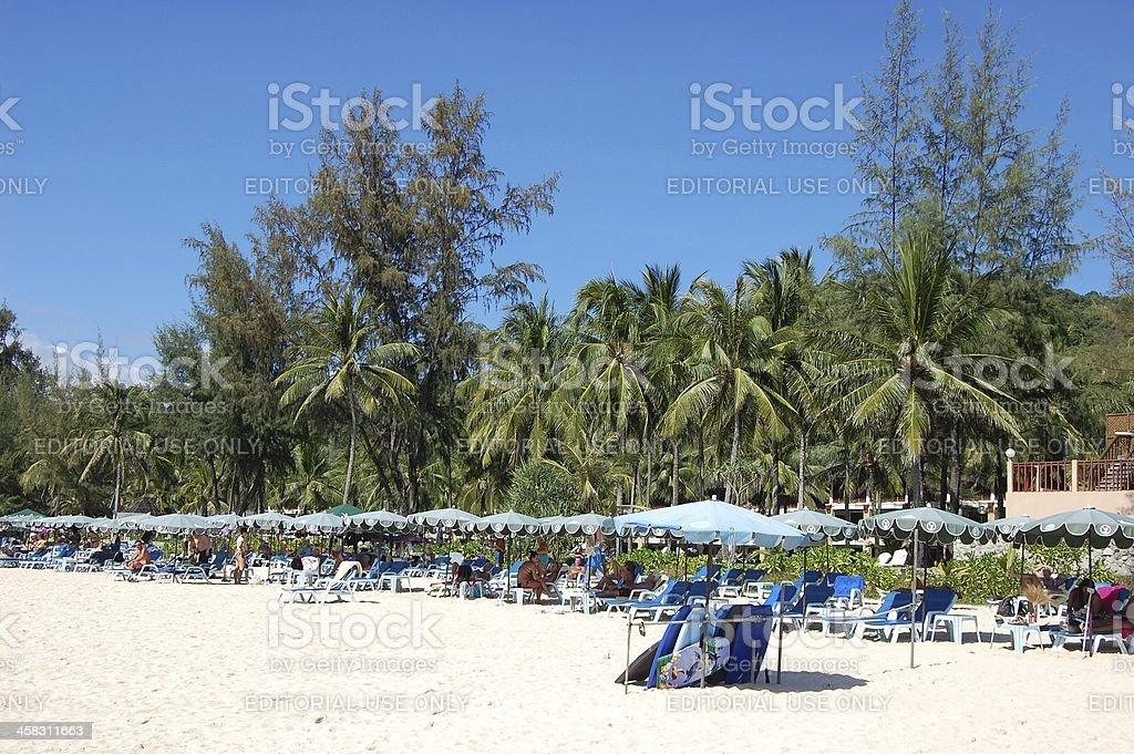 Kata beach, Phuket Thailand stock photo