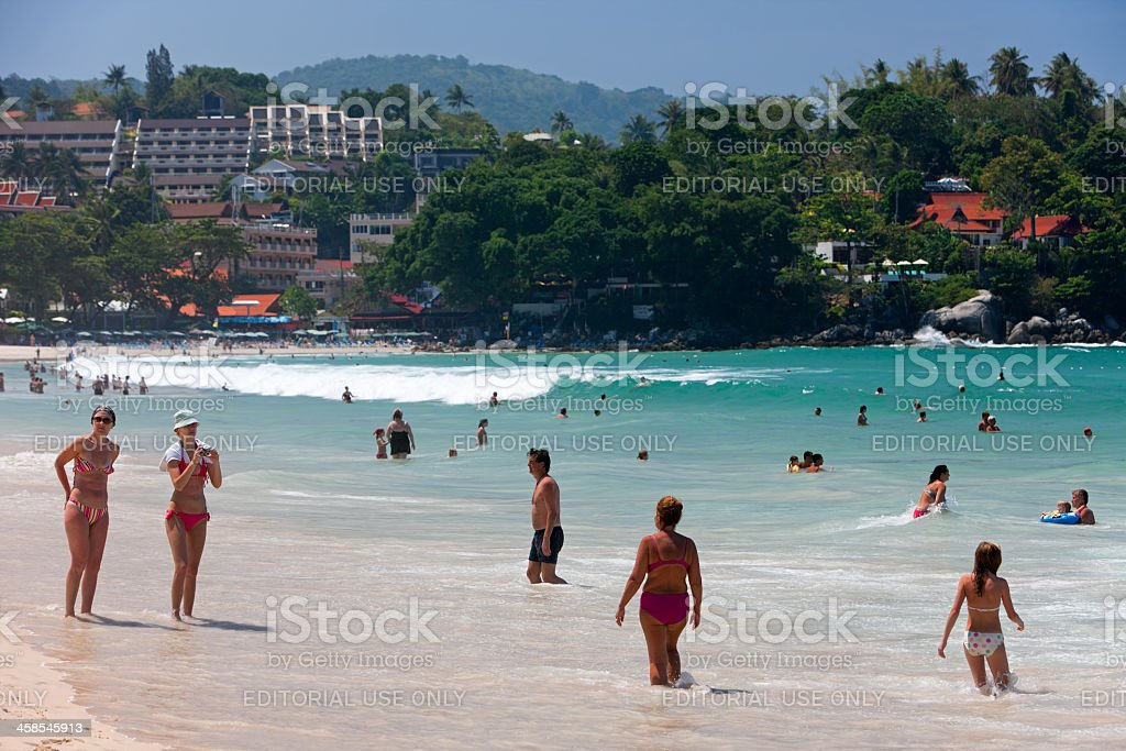 Kata Beach, Phuket, Thailand. stock photo