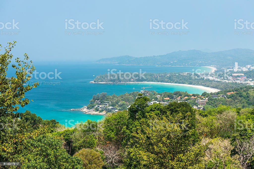 Kata Beach Viewpoint at Phuket island, Thailand stock photo