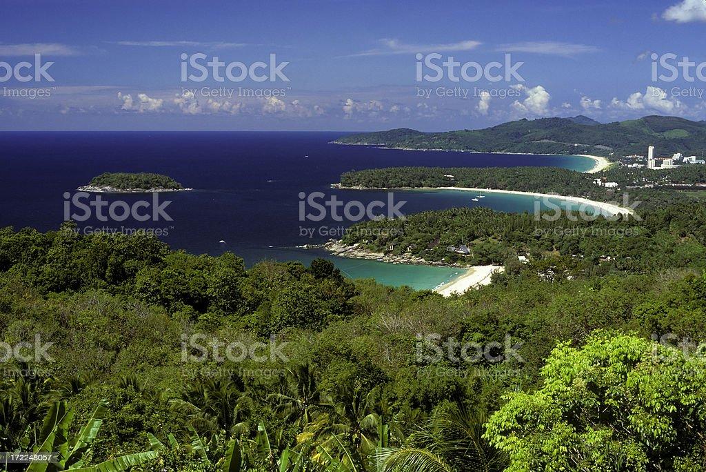 kata karon beach viewpoint phuket island thailand stock photo