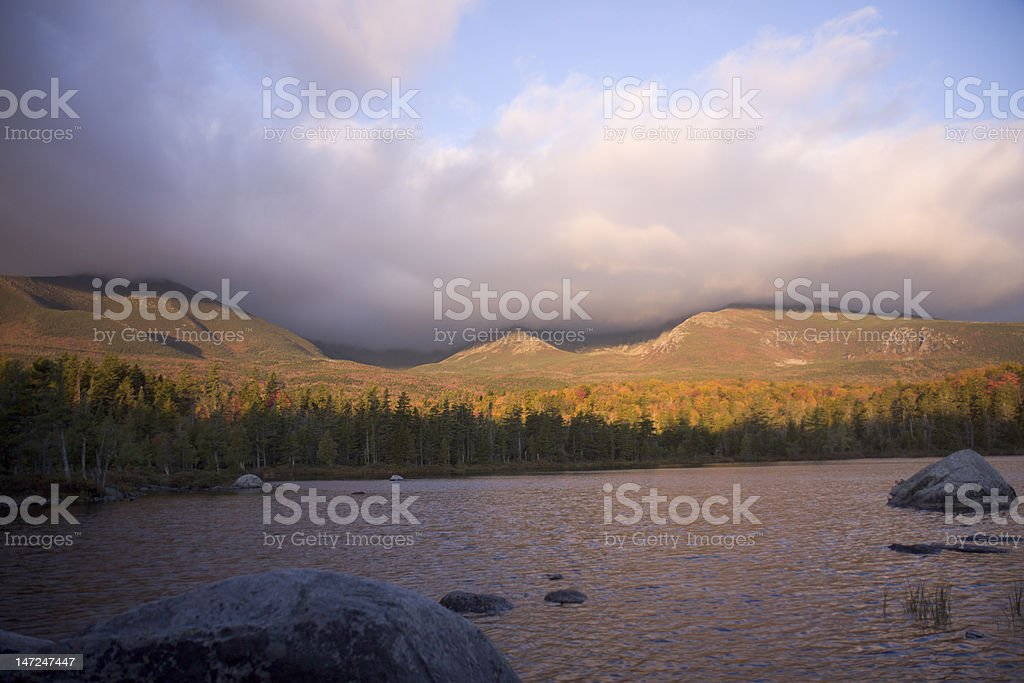 Katahdin Splendid Sunrise royalty-free stock photo