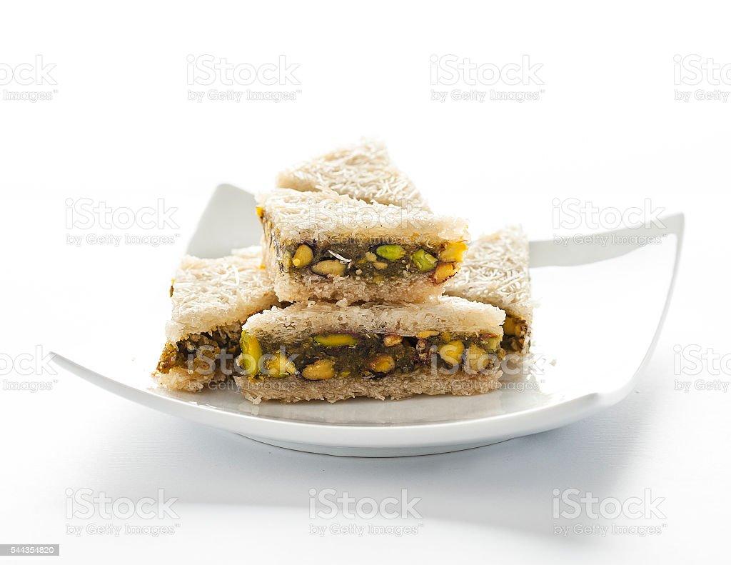 Kataif - atayef - turkish dessert stock photo