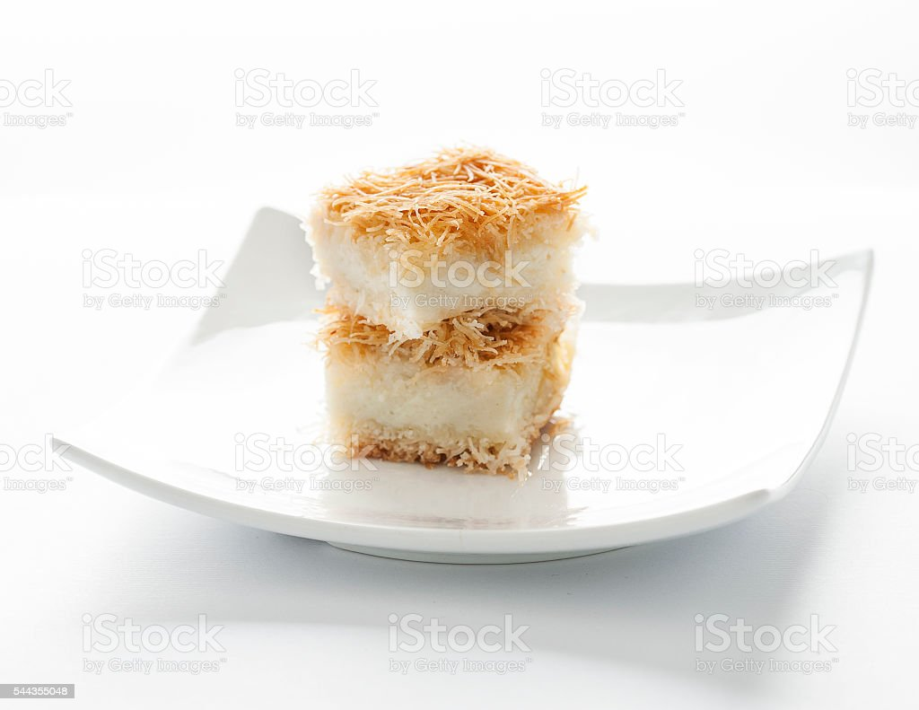 Kataif -  oriental dessert stock photo