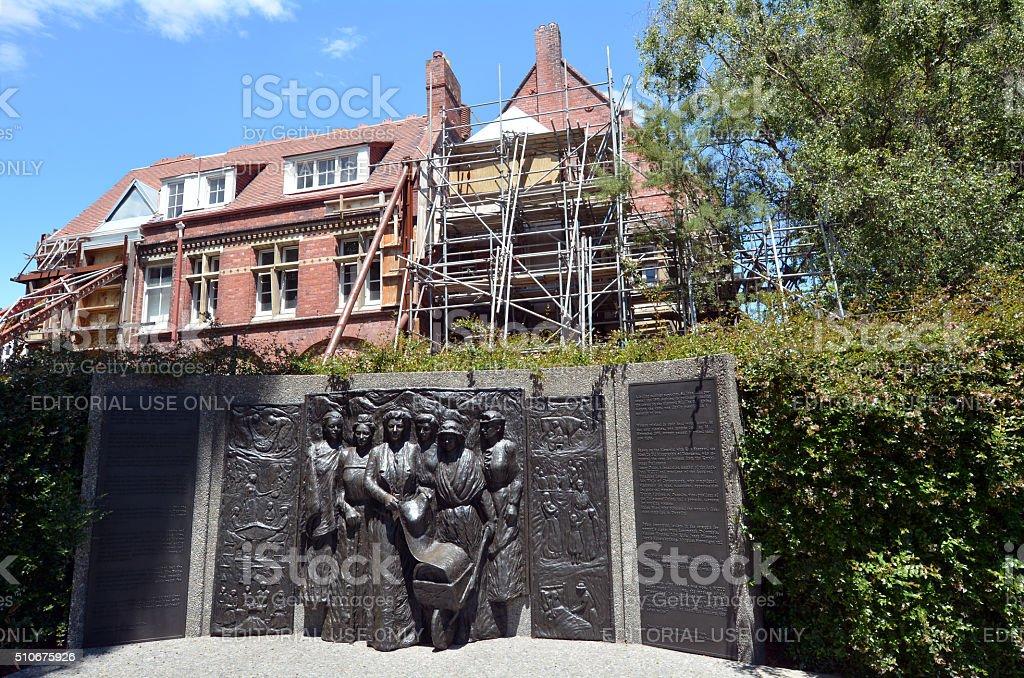 Kate Sheppard National Memoria in Christchurch - New Zealand stock photo