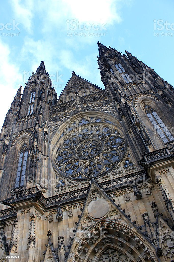 Katedrala svateho Vita in Prague royalty-free stock photo