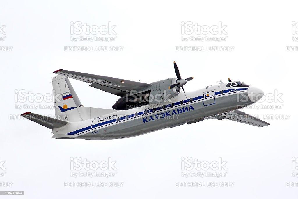 Katekavia Antonov An-24RV stock photo