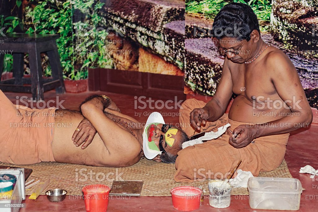 Kathakali performers royalty-free stock photo