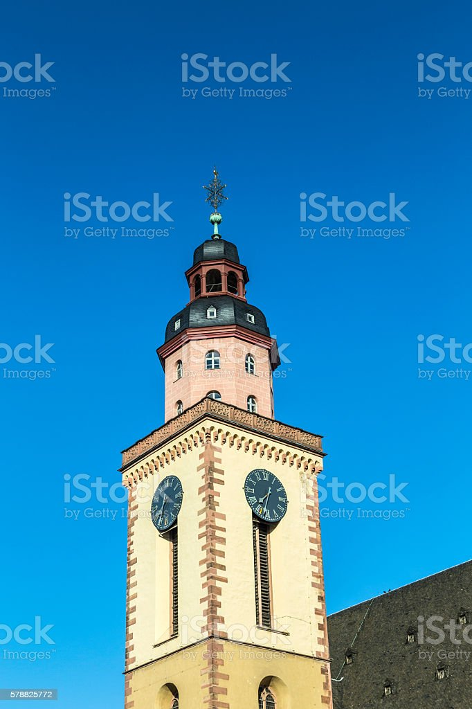 Katharinenkirche (St. Catherine' church) in the old city center stock photo