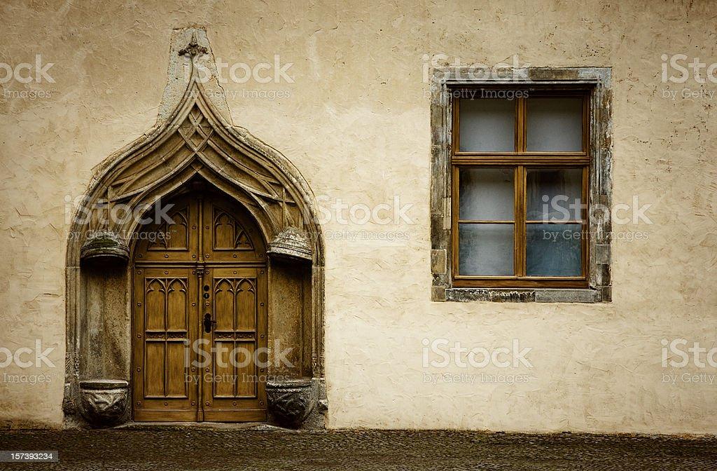 Katharinenportal , Luther House / Lutherhaus ( Wittenberg ) stock photo
